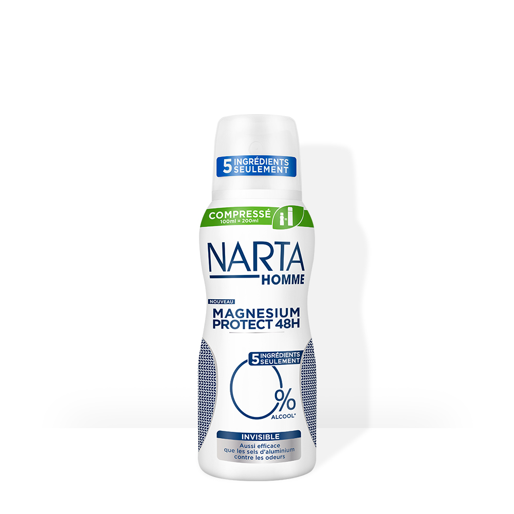 Narta Déodorant Homme Compresse Magnesium Protect invisible